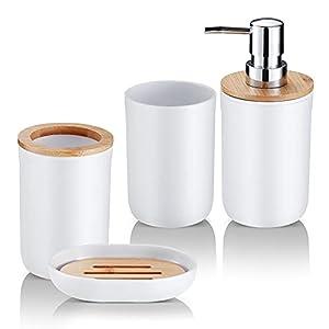 31-QQ41+wZS._SS300_ Coastal & Beach Bathroom Accessories Sets