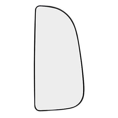 Brock Replacement Passenger Side Tow Mirror Glass with Base Outer compatible with 09-18 Pickup