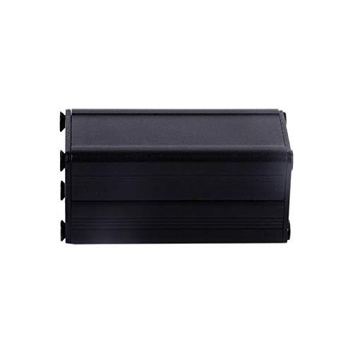 """Aluminium PCB Instrument Box DIY Schwarz Aluminium Gehäuse Gehäuse Gehäuse Elektronisches Kühlgehäuse DIY 1,97""""x 0,98"""" x 0,98"""""""