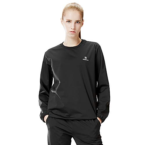 KEBILI Sauna Sweat Suit Long Sleeves TShirts Women Professional Athletes 3XLS Plus Big and Tall Size Exercise Workout Boxing