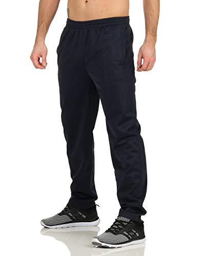 ZARMEXX Pantalones de chándal para hombre, para el tiempo libre, fitness, gimnasio, jogging Azul marino. XL