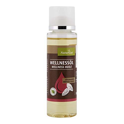 NaturGut Massageöl Süssmandel 100 ml für Frauen und Männer Wellness & Beauty - entspannende Ganzkörperpflege - für Body Gesicht Haut Hände Nägel und Haare - mit Vitamin E