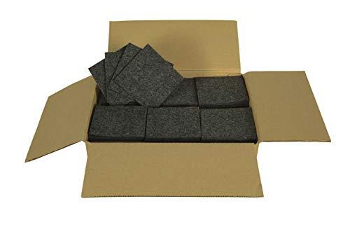 Sensalux - Sottobicchieri in feltro, 60 pezzi, 10 x 10 cm, sottobicchieri, sottobicchieri, sottobicchieri, sottobicchieri, sottobicchieri, con angoli a 90°