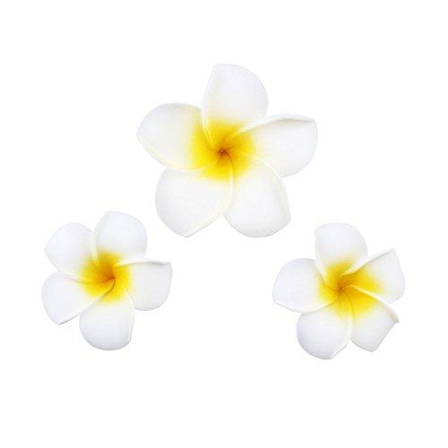 3Pcs(S,M,L) Hawaiian Plumeria Flower Foam Hair Clip Best for Bridal,Beach Hair Accessory