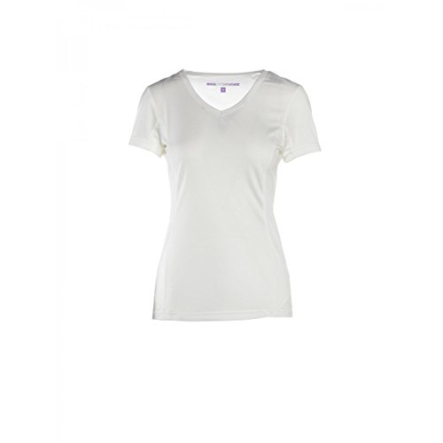 Rock Experience Ambit, T-Shirt Femme Respirant w13 K081-re, Bianco (Bright White (0003))