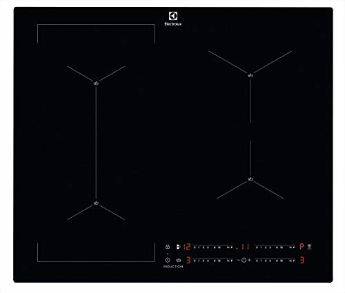 Electrolux EIS62449C Piano cottura ad induzione Serie 700 SenseBoil 60 cm, Nero