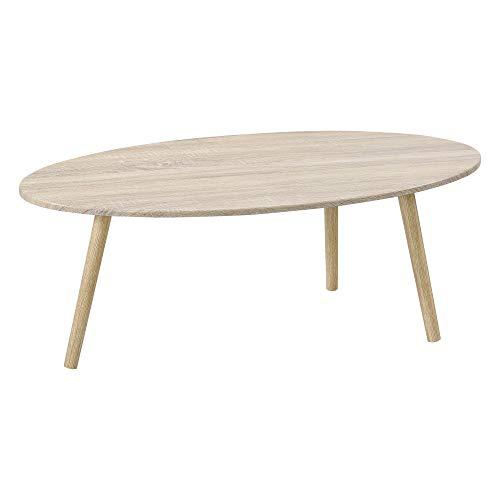 Table Basse de Style Élégant pour Salon Table avec Pieds Solides en Bois MDF revêtu PVC 110 x 60 x 40 cm Effet Chêne et Bois