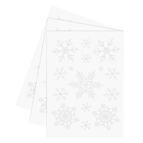 Amosfun 3 piezas pegatinas de tatuajes de navidad pegatinas fluorescentes de dibujos animados tatuajes temporales patrón de copo de nieve pegatinas de cara fiesta de navidad favorece regalos