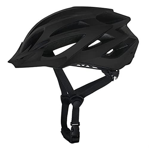 Casco de la Bici Casco del Ciclo para Hombre Casco de Bicicleta Todo Terreno Adultos Bici del Camino de MTB Racing Casco de Ciclista Negro