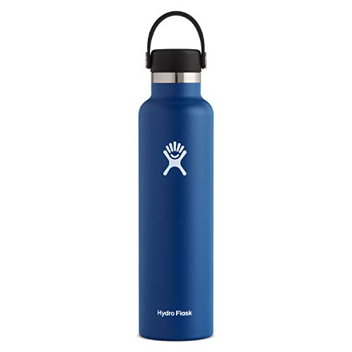Hydro Flask Standard Mouth Water Bottle, Flex Cap - 24 oz, Cobalt