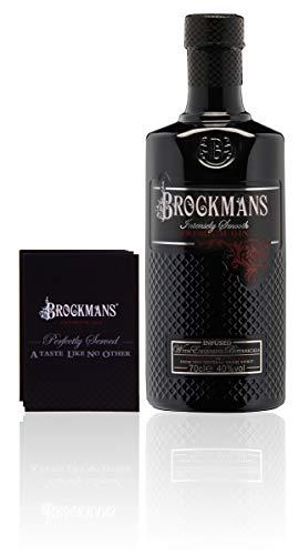Brockmans Intensly Smooth Premium Gin (1 x 0.7 l) + original Brockmans Gin Perfect Serve Booklet