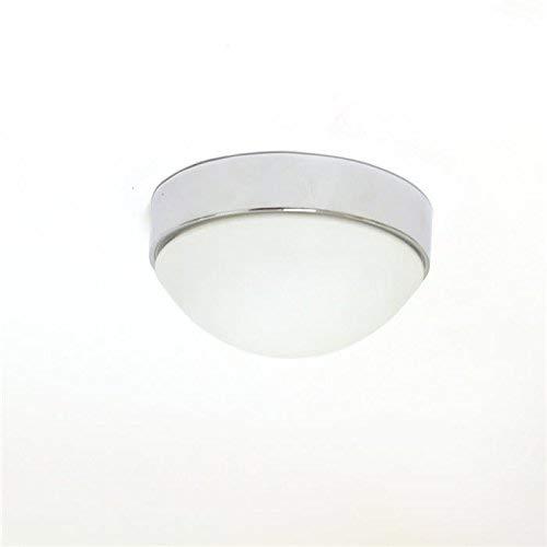 LED Lámpara de techo plafón Aki cromo con pantalla de cristal 24 ...
