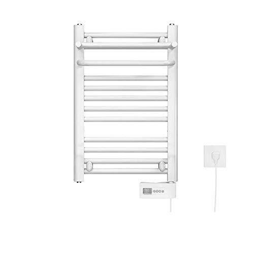 LILICEN Hot Handtuchwärmer for Bad beheizt Wäschetrockner 10 -Bar Mit Thermostat Plug-in der Wand befestigten Edelstahl Handtuchwärmer