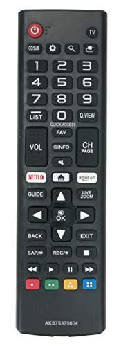 VINABTY Replaced Remote fit for LG TV 70UK6570 86UK6570 75UK6570 43UK6300 49UK6300 50UK6300 55UK6300 65UK6300 43UK6500AUA 50UK6500AUA 55UK6500AUA 65UK6500AUA 43UK6300BUB 49UK6300BUB AKB75375604