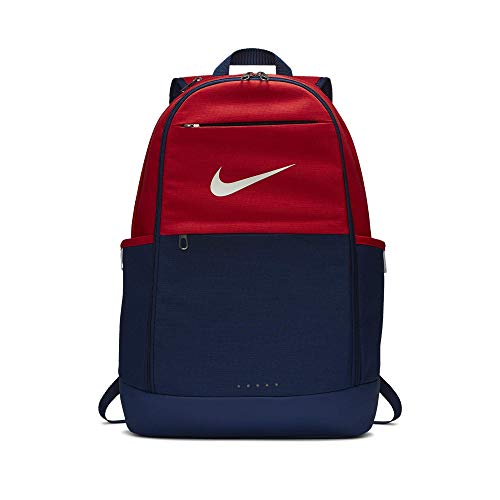Nike Brasilia Training Backpack, Extra Large Backpack Built for Secure Storage with a Durable Design, University Red/Blue Void/White