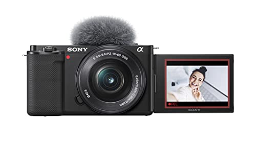 Sony Alpha ZV-E10 | Appareil photo vidéo hybride APS-C Vlog avec optique zoom motorisée 16-50mm f/3.5-5.6 (écran orientable pour le vlogging, vidéo 4K, autofocus en temps réel sur les yeux)