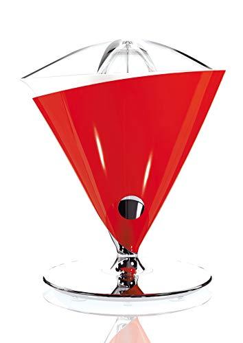 BUGATTI, Vita, Exprimidor eléctrico con jarra en vidrio templado soplado incluida, Capacidad 0,6 litros, Filtro en acero inoxidable, 80 W, Color Rojo