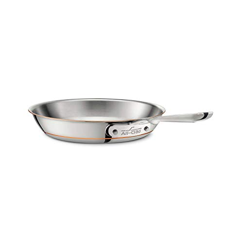 All-Clad 6110 SS Copper Core 5-Ply Bonded Dishwasher Safe Fry Pan/Cookware, 10-Inch, Stainless-Steel
