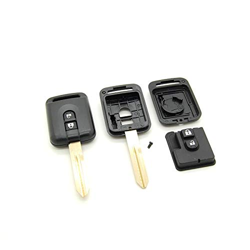 Mygoodprice Coque pour clé télécommande 2 Boutons Nissan K12 Note Qashqai Navara