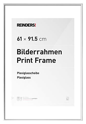 REINDERS Bilderrahmen für Maxi-Poster 61x91,5cm Wechselrahmen Kunstoff Weiß