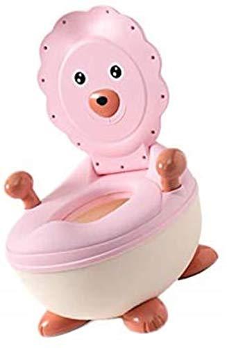 GCX- Potty Leone Sveglio di Stile for Bambini, Facile da Pulire, toletta del Bambino, Portable Training Toilet Seat, Leggero (Color : Pink)