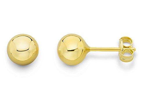 Miore Ohrringe Damen Gelbgold 14 Karat / 585 Gold Ohrstecker Kugel