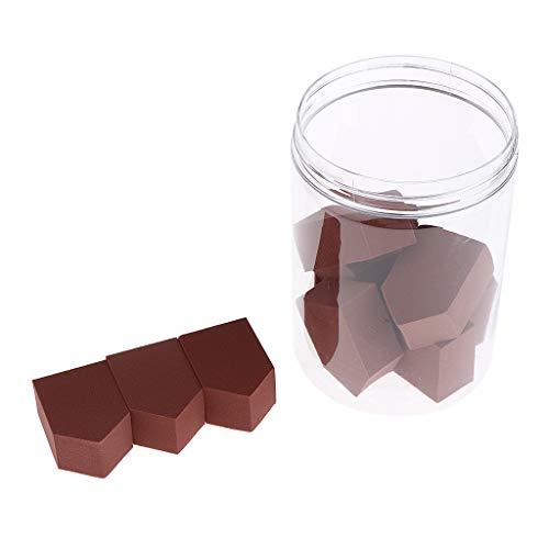 MERIGLARE 10x éponge Mélangeur Cosmétique Pour Poudre Liquide Composent Des éponges Faciales - Café