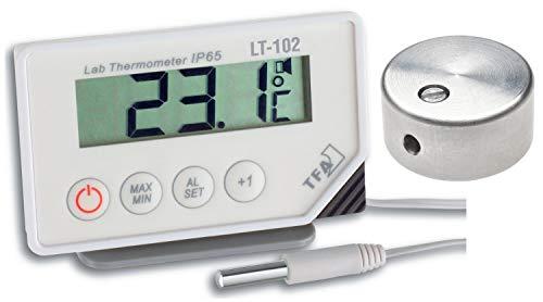 Profi-Digitalthermometer TFA 30.1034.01.99 LT-102 mit Kabelfühler und Temperaturbremse