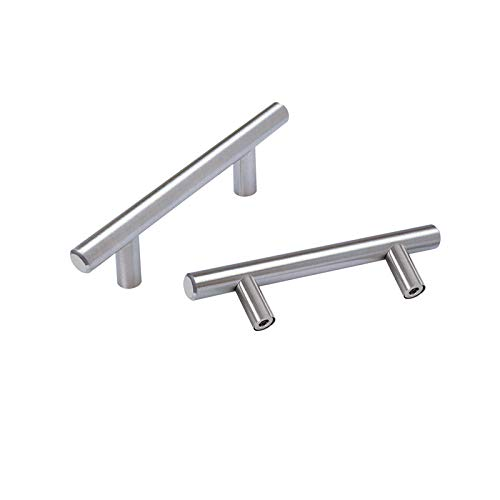 OYX 20Pack Cabinet Handles Brushed Nickel Cabinet Pulls Kitchen Hardware for Cabinets Sliver Cabinet Hardware Pulls for Bathroom BedroomWardrobe 3in Hole Center