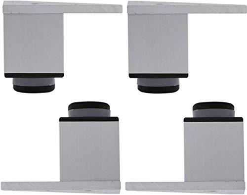 Patas de los muebles ajustables Patas de Apoyo Pies de aluminio de aleación de metal del gabinete del gabinete del pie del pie Gabinete de TV Mesa de pie piernas cuarto de baño, 600 kg por cada cuatro