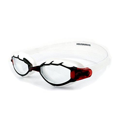Barracuda Gafas de Natación Goggles Antiniebla Protección UV Anti-rotura Cómodo Triatlón Unisex Adultos TRITON #33925 (Blanco)