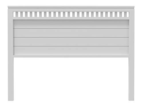 PEJECAR cabecero Modelo Bora para Cama de 150 Fabricado en Madera mazica de Pino insigni Acabado en Blanco Satinado