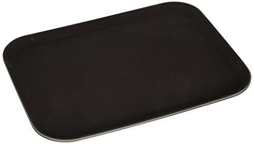 New Star Foodservice 25002 Non-Slip Tray, Plastic, Rubber Lined, Rectangular, 12 by 16-Inch, Brown