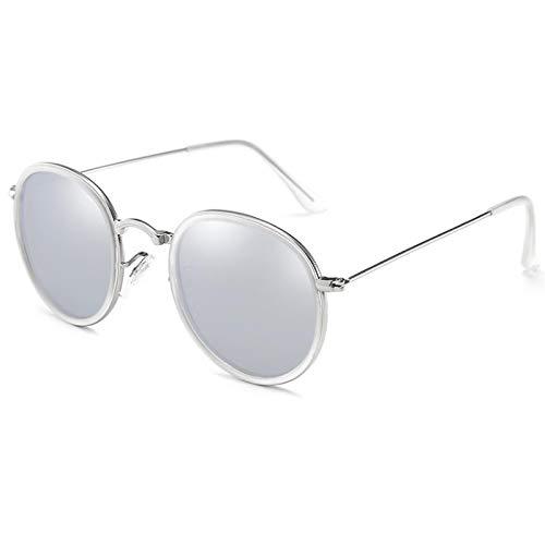 NJJX Gafas De Sol Polarizadas Redondas Hombres Mujeres ModaGafas De Sol Sombras Gafas Retro 05