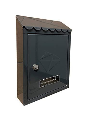 kippen 10005BN Buzón de acero pintado de color negro