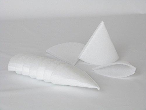 Sparhai24 20x Abluftfilter Kegelfilter Filter G3 für Tellerventil DN 125 ca.180mm lang z.B. passend für Zehnder Pluggit etc.