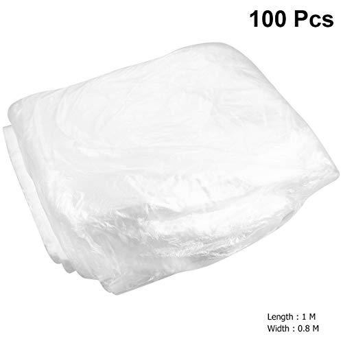 Garneck 100 stks Wegwerp Plastic Stoelhoezen Stofdichte Seatmate Beschermhoezen voor Auto Voertuig Auto (Transparant)