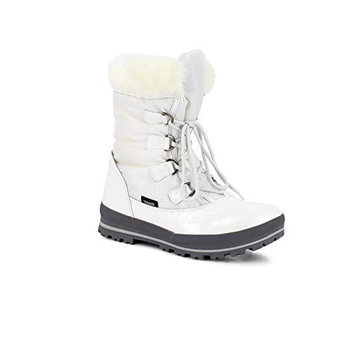 Kimberfeel - Aponi - Botte de Neige pour Femme, Taille 41, Blanc