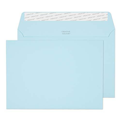 Creative Colour 45318 Farbige Briefumschläge Haftklebung Baumwoll Blau C5 162 x 229 mm 120g/m² | 25 Stück