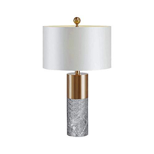 ZHANGXJ Creativa Lámpara de Mesa de Mármol Simple Lámpara de Noche Lámpara de Mesa de Café Adecuado para Recibidor Dormitorio Estudio Salon Escritorio Estudio