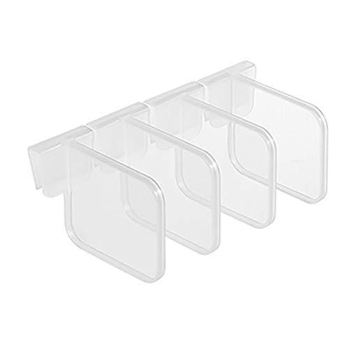 ZYYXB 4 bandejas organizadoras para cajones de frigorífico, de plástico transparente, para clasificar alimentos