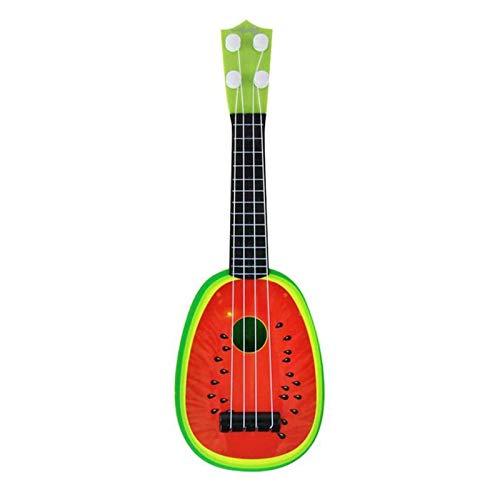 Juguete para ukelele para niños, MyCreator para niños con mini instrumentos musicales de frutas, divertido, educativo, aprendizaje de 4 cuerdas, guitarra, ukelele, xilófono, juguetes de regalo