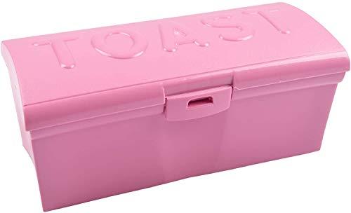Toastbrotbox Brotkasten Sandwichtoastbox Brotdose Aufbewahrungsbox Vorratsdose, Farbe:rosa