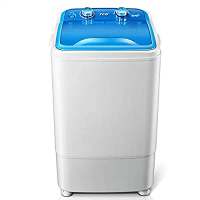 DIOE Portable Compact Mini Single Tub Washing Machine w/Wash and Spin Cycle, 6kg Capacity For Camping, Apartments, Dorms, College Rooms, RV's,and more