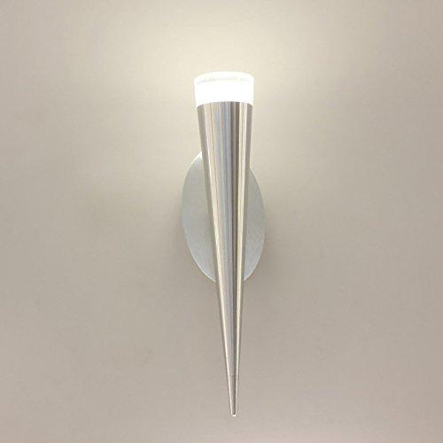 OOFAY TAPS 5W LED Mur Lumière Cône De Crème Glacée en Aluminium Angle Réglable Lumières De Décoration Murale,Whitelight