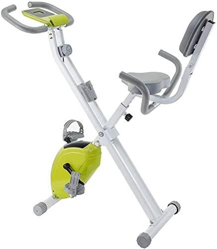 ZCYXQR Monitor de Bicicleta Vertical magnético para Bicicleta estática con Soporte para teléfono, Respaldo Alto, Banda de Resistencia Ajustable para Brazo y amp;Pierna (Deporte de Interior)