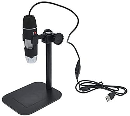 Cámara de microscopio Digital Profesional con 8 Luces LED, electrónica Magnifier de endoscopio USB 50x ~ 500x Mida de Aumento para Pruebas industriales