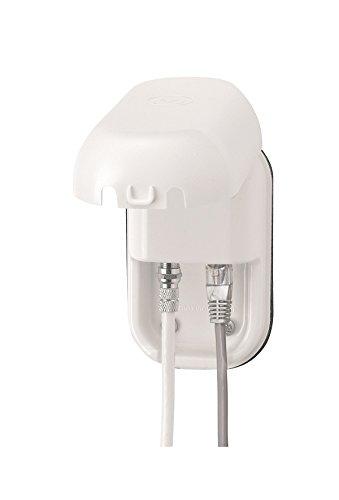 Maxview B2014 - Conector RJ45 y Conector F (Enchufe Impermeable), Color Blanco