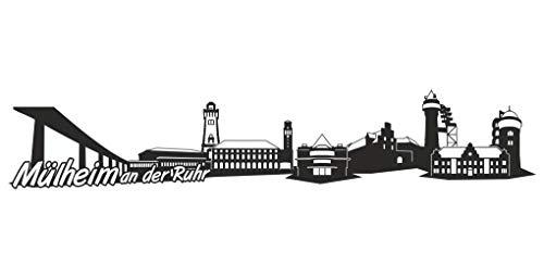 Samunshi® Mülheim an der Ruhr Skyline Aufkleber Sticker Autoaufkleber City Gedruckt in 7 Größen (20x3,9cm schwarz)