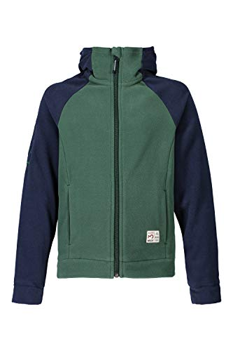 Maloja Fleecejacke Jacke GieruU. Hooded Fleece Jacket dunkelgrün atmungsaktiv (Kindergröße M)